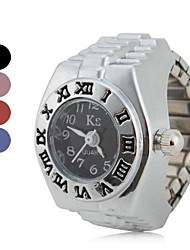 Женские Модные часы Часы-кольцо Кварцевый Группа Винтаж Серебристый металл