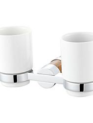 acessórios para banheiro latão maciço de mármore de parede dupla titular tumbler