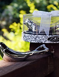 "Birds Chrome Bottle Favor Bottle Openers Garden Theme Silver 4""× 3/4"" (10*2cm)Gift box with a organza ribbon and ""Coordinated For You """