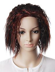 capless olhar natural peruca de cabelo vermelho vinho