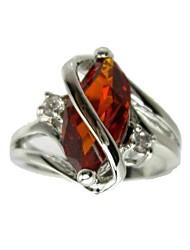 belo anel de zirconia cúbico moda (mais cores)