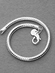 Стильный браслет, с серебреным напылением, 4мм