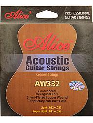 Alice - (aw332-sl) acústicos de aço cordas da guitarra (011-052)