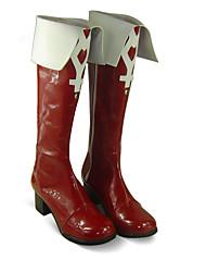 Cosplay Stiefel Mahou Shoujo Madoka Magica Kyoko Sakura Anime Cosplay Schuhe Weiß / Rot PU Leder Frau