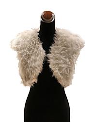 Elegant Faux Fur Lamb Fur Wedding / Special Occasion Evening Jacket / Wrap Bolero Shrug