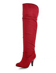Suede Spool Heel Closed Toe Knee High Boots Party / Evening Shoes (More Colors)
