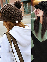 Lady Winter Wool Hats Knitted Caps(Circumference 56-58cm)