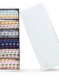 Ladies' Cotton Box of Socks(5 Pairs One Set)