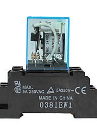 Mini 24v 5a elektromagnetische Relais-schwarz und blau