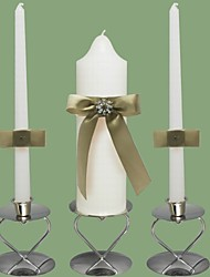Chic Wedding Unity Candles Set-White (Candle Holders Not Included)