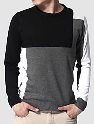 camisola dos homens contrato cor da blusa fina espessura