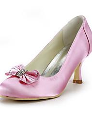 женская обувь шелк стилет каблук каблуки / круглые пятки ног свадьбы / участник& вечер / платье розовый
