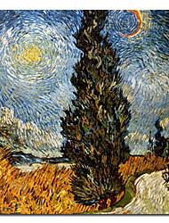 """met de hand geschilderd beroemde olieverfschilderij met gestrekte frame 24 """"x 24"""" van Van Gogh"""