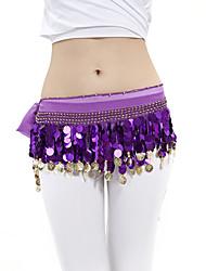 dancewear Chiffon mit 88 Kupfermünzen Bauchtanz Hüfttuch für Damen mehr Farben
