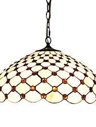 2 - Light Tiffany Pendent Lights with Dots Design