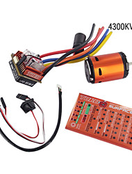 skyrc toro 10 c120 120a esc conjunto de combinação sensorless (toro c120 esc 4300 kvmotor + cartão de programa)