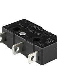 3-Pin Mini Micro Switch with Push Button-Black (20-Piece Pack)