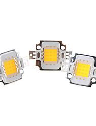 zdm ™ bricolaje 10w 800-900lm 2850-3050k luz blanca cálida integrar LED emisor (3-pack, 9-11v)
