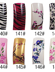 70 Pcs Full Cover Beautiful French Acrylic Nails Tips 8 Colors Available