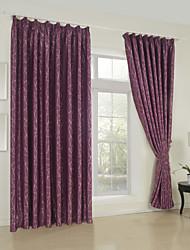 (One Panel)Classic Stone Jacquard Blackout Curtain