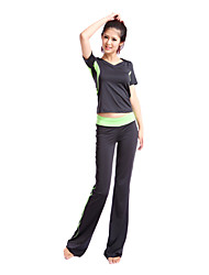 siboen Polyester Kurzarm Praxis tragbar Yoga Pants