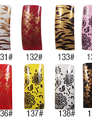 70 Pcs Full Cover Graceful French Acrylic Nails Tips 8 Colors Available