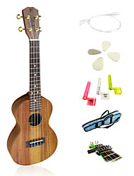 Yadars - (YC-AC13) High-Grade Solid Koa Concert Ukulele with Gig Bag/String/Picks/Capo