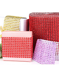 Shining Rhinestones Wedding Ribbon Width 11.8 cm - Set of 10 Yards (More Colors)