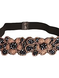 spandex magnifique / coton avec ceinture des femmes des cristaux (plus de couleurs)
