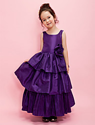 Ball Gown/A-line Ankle-length Flower Girl Dress - Taffeta Sleeveless