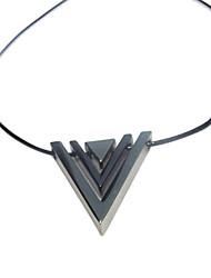 símbolo da vitória colar forma v