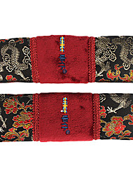 High Quality Car Seat Belt Cover, Two Pieces Suit, Blossom Of Fortune Flowers Series
