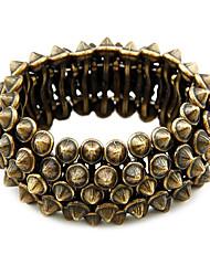 retro estilo bracelete estiramento exagerado rebite
