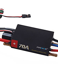 Flycolor 4S 70A (black shell) ESC for RC Boat with Brushless Sensorless motor (Random Colors)