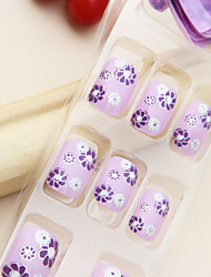 Full Cover Flower Plastic Acrylic Nails Tips