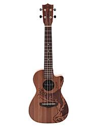 Rainie - (TCO-01) ad alto tenore ukulele grande solido acacia koa con gig bag / sintonizzatore (oceano tatoo)