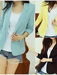 Casual Candy Color Slim Suit