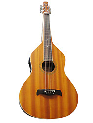 Aiersi - (08WBER) Plywood Mahogany Weissenborn Acoustic-Electric Hawaiian Slide Guitar with Gig Bag(Satin)