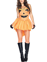 Cosplay Costumes / Party Costume Fairytale Festival/Holiday Halloween Costumes Orange Patchwork / Print Dress / Belt / T-BackHalloween /