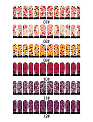 12PCS Nail Art Nail Stickers Zes Pattern te kiezen