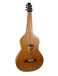 Aiersi - (02HBSM) All Solid Mahogany Rope Binding Weissenborn Guitar/Acoustic Hawaiian Slide Guitar with Gig Bag(Satin)