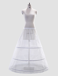 Vestido de poliéster Full-length Estilo deslizamento casamento / Petticoat