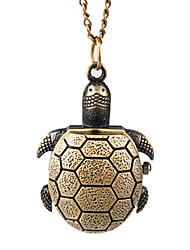 Charmante tortue alliage Collier montre design