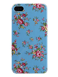 Flower Pattern Hard Case for iPhone 4 and 4S (Assorted-Colors)