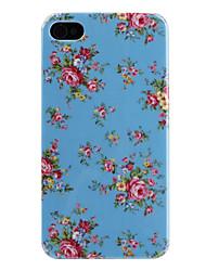 Flower Pattern caso duro para el iPhone 4 y 4S-(colores surtidos)