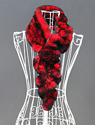 Gorgeous One Flower Rabbit Fur Party / Evening Scarf (More Colors)