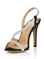 Simple Sparkling Glitter Stiletto Heel Sandals Party/Evening Shoes