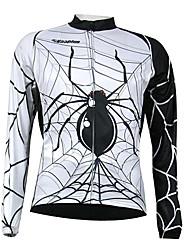 Kooplus Quick Dry Men's Long Sleeve Cycling Jersey (Spider Design)
