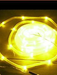 Solar 50-LED Tubo de Luz Amarilla Lámpara al aire libre jardín Patio Decoración