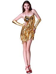 dancewear desempeño de lentejuelas vestido de baile latino para las damas más colores